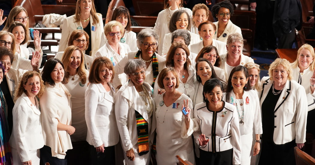 Democrats Wear White at State of the Union to Honor Suffragists