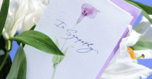 Sympathy Cards Are Selling Out