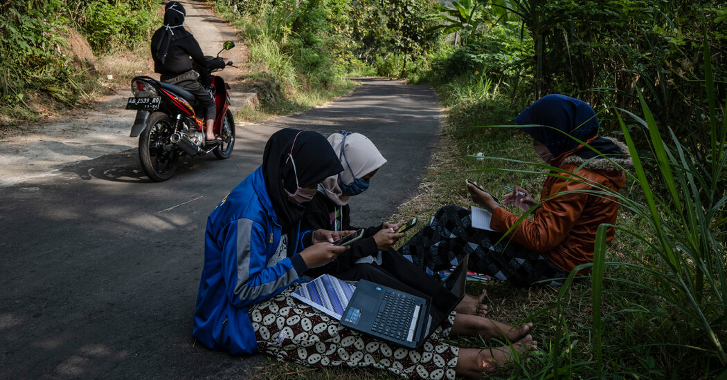 When Learning Is Really Remote: Students Climb Trees and Travel Miles for a Cell Signal