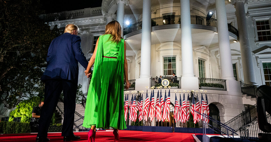 About Melania Trump's Lime Green Dress and Ivanka Trump in Black