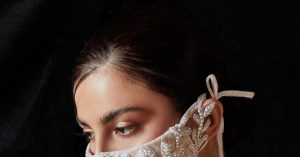 Fashion Forward Bridal Masks for Your Walk Down the Aisle