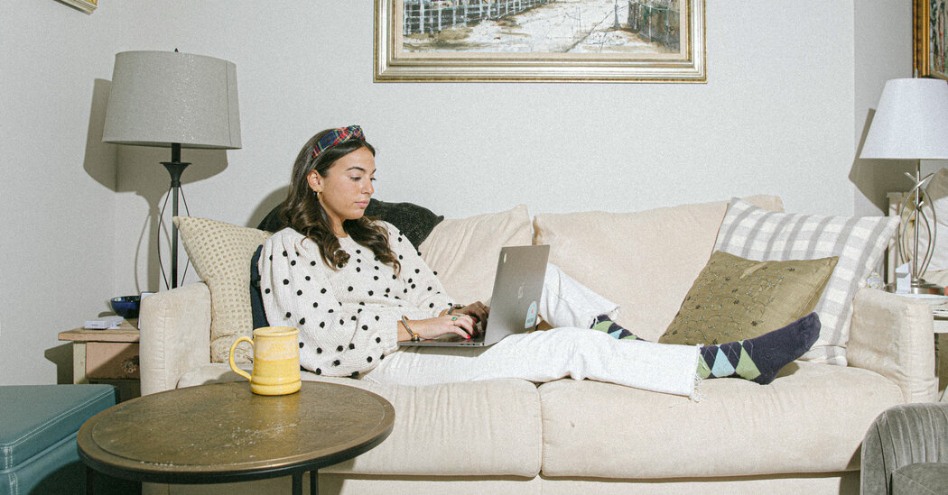Goodbye, Blazers; Hello, 'Coatigans.' Women Adjust Attire to Work at Home.