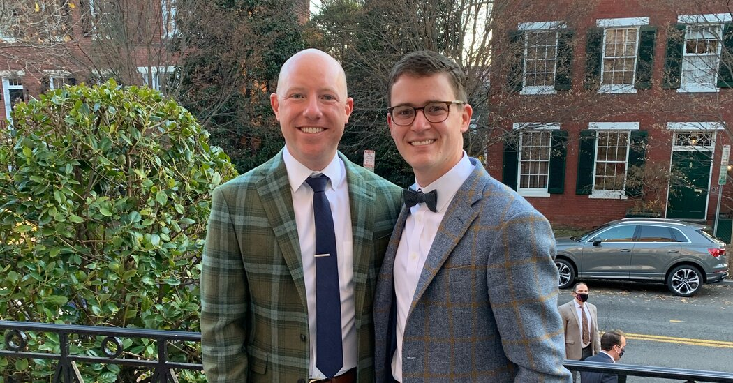 These Grooms Bonded Over Faith and Football