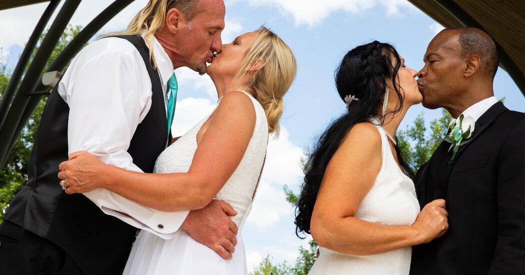 One Wedding Ceremony. Two Couples. Four 'I Dos.'