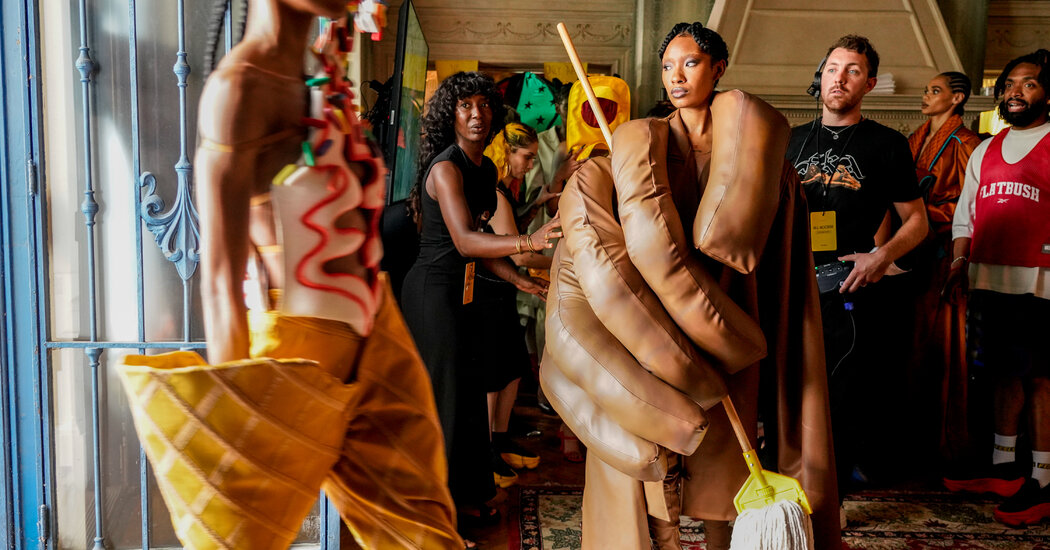 A Black American Designer Disrupts the French Couture